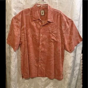 Jamaica Jax Orange Short Sleeve Button Down Shirt